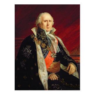 Cartão Postal Duque de Charles-Francois Lebrun de Plaisance