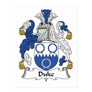 Cartão Postal Duque Família Crista