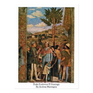 Cartão Postal Duque Ludovico Ii Gonzaga por Andrea Mantegna