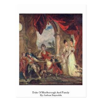 Cartão Postal Duque Marlborough e família por Joshua Reynolds