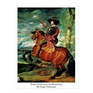 Cartão Postal Duque Olivares a cavalo por Diego Velázquez