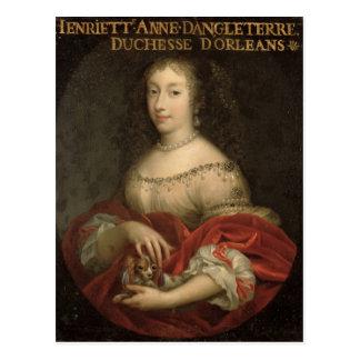 Cartão Postal Duquesa de Henrietta Anne de Orleans
