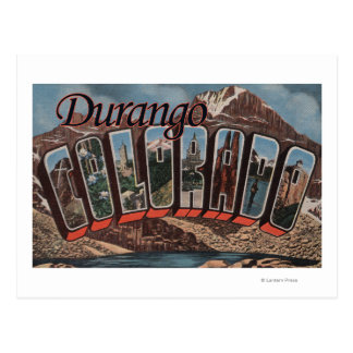 Cartão Postal Durango, Colorado - grandes cenas da letra
