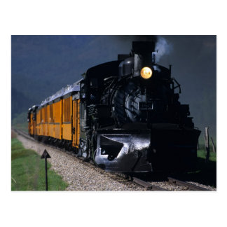 Cartão Postal Durango & trem do vapor de Silverton