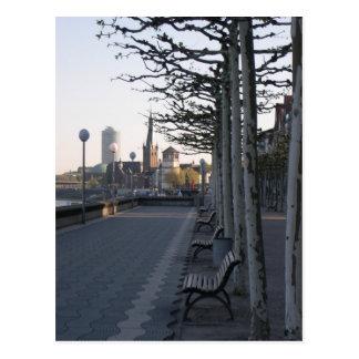 Cartão Postal Düsseldorf passeio de reno