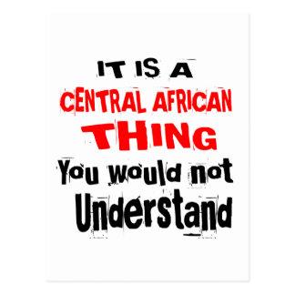 CARTÃO POSTAL É DESIGN DA ÁFRICA CENTRAL DA COISA