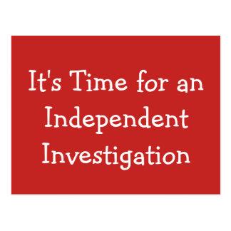 Cartão Postal É hora para uma investigação independente