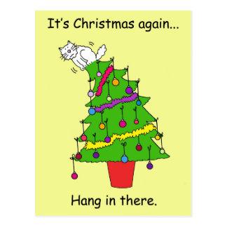 Cartão Postal É Natal outra vez, cair dentro lá
