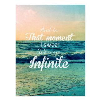 Cartão Postal E nesse momento, eu juro que nós éramos infinitos
