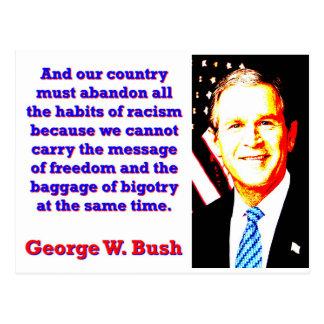 Cartão Postal E nosso país deve abandonar - G W Bush
