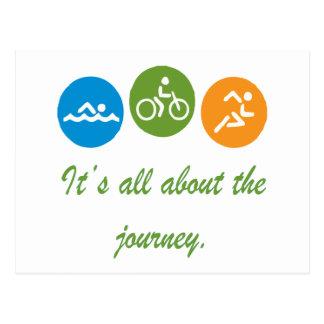 Cartão Postal É toda sobre a viagem - Triathlon