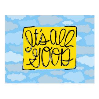 Cartão Postal É todas as boas nuvens amarelas do azul de