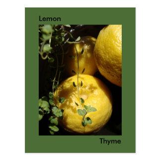 Cartão Postal É tomilho do limão