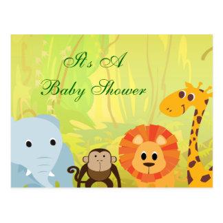 Cartão Postal É um chá de fraldas da selva