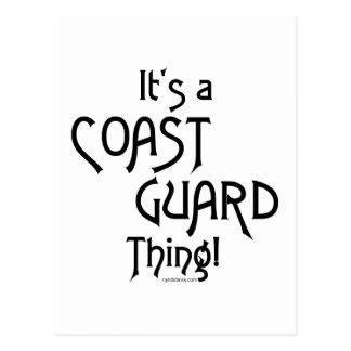 Cartão Postal É uma coisa da guarda costeira!