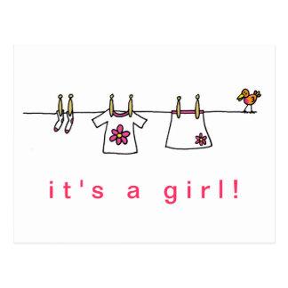 Cartão Postal É uma menina