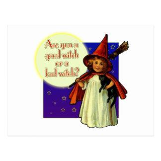 Cartão Postal É você uma boa bruxa
