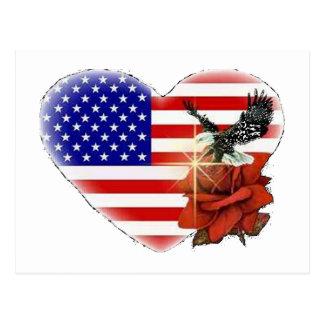 Cartão Postal Eagle e o rosa