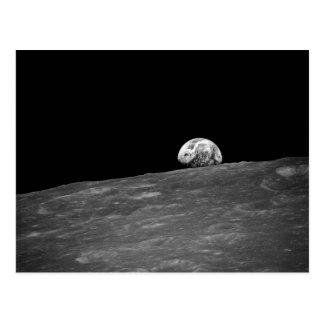 Cartão Postal Earthrise da missão da lua de Apollo 8