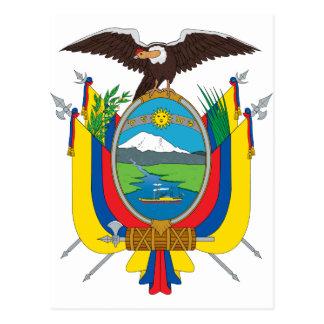 Cartão Postal EC da bandeira de Equador