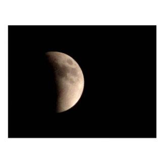 Cartão Postal Eclipsando a lua