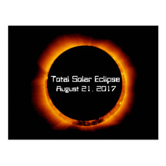 Cartão Postal Eclipse 2017 solar total