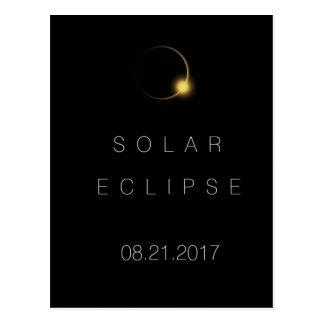 Cartão Postal Eclipse 2017 solar total americano
