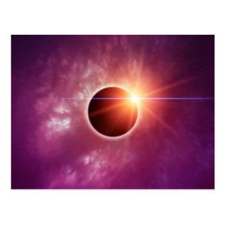 Cartão Postal Eclipse solar
