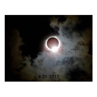 Cartão Postal Eclipse solar 21 de agosto de 2017