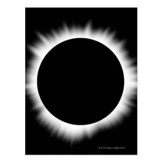 Cartão Postal Eclipse solar com corona