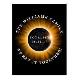 Cartão Postal Eclipse solar da totalidade da família