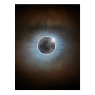 Cartão Postal Eclipse solar total