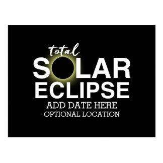 Cartão Postal Eclipse solar total 2017 - data & lugar feitos sob