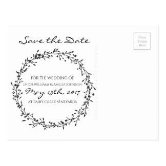 Cartão Postal Economia--Data floral da grinalda