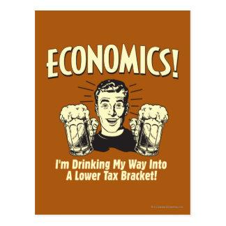 Cartão Postal Economia: Mais baixo suporte de imposto bebendo