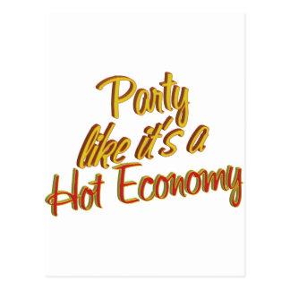 Cartão Postal Economia quente do partido