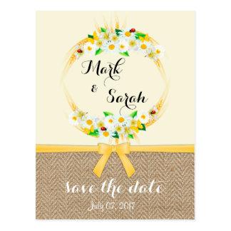 Cartão Postal Economias à moda do casamento do verão a data