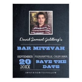 Cartão Postal Economias azuis da foto de Mitzvah do bar do