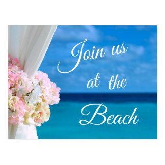 Cartão Postal Economias azuis elegantes do verão da praia do