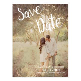 Cartão Postal Economias brancas do casamento da foto da escova