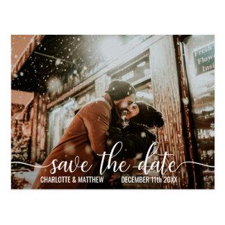 Cartão Postal ECONOMIAS brancas modernas do casamento do roteiro