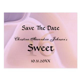 Cartão Postal Economias cor-de-rosa de cristal elegantes do doce