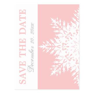 Cartão Postal Economias cor-de-rosa do casamento no inverno do