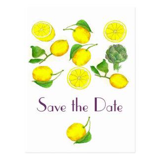Cartão Postal Economias da arte da aguarela dos citrinos do