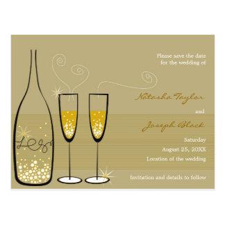 Cartão Postal Economias da celebração das bolhas de Champagne a