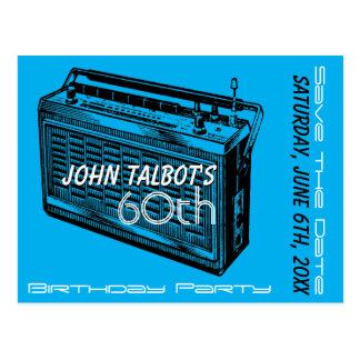 Cartão Postal Economias da festa de aniversário do rádio 60th do