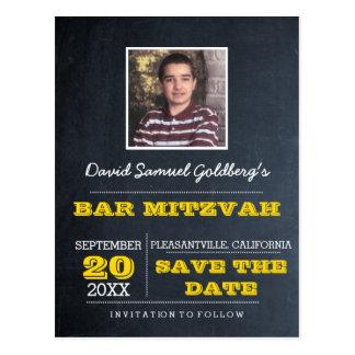 Cartão Postal Economias da foto de Mitzvah do bar de ouro do