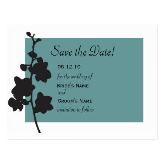 Cartão Postal Economias da orquídea azul a data