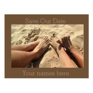 Cartão Postal Economias da praia a data