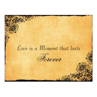 Cartão Postal Economias das citações do amor do estilo do